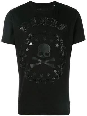 Philipp Plein rhinestone skull print T-shirt