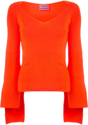 SOLACE London scoop neck sweater
