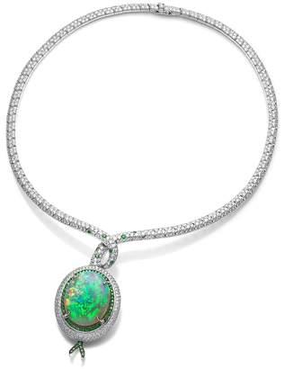 Black Opal Kojis Diamond Necklace