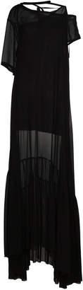 Ann Demeulemeester Silk Sheer Maxi Dress