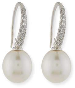Assael Pavé Diamond & South Sea Pearl Drop Earrings