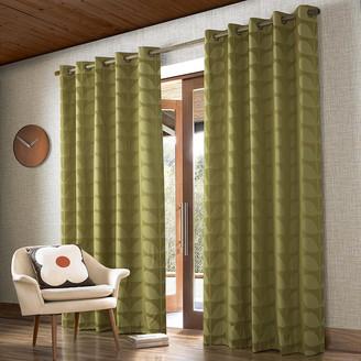 Orla Kiely Jacquard Stem Eyelet Curtains