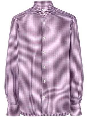 Kiton checked button-down shirt