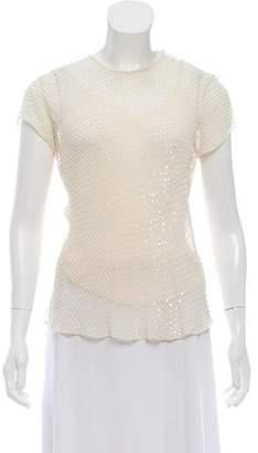 Ralph Lauren Silk Sequin Blouse