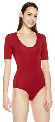 b555ce724f Plumberry Women s Scoop Neck Slim Fit Snap Crotch Bodysuit Thong Leotard