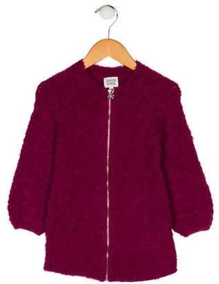 Armani Junior Girls' Fleece Long Sleeve Jacket