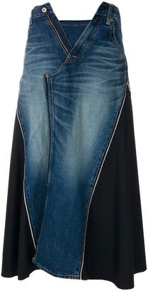 Junya Watanabe long open-zip skirt