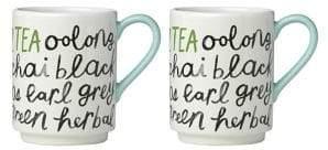 Kate Spade Set of Two Piping Hot Tea Mug