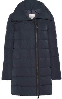 Moncler - Lobelia Quilted Shell Down Coat - Midnight blue $1,090 thestylecure.com