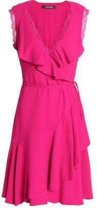Roberto Cavalli Wrap-Effect Ruffled Crepe Dress
