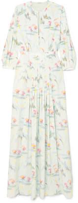 Vilshenko Eloise Floral-print Silk Maxi Dress - Ivory