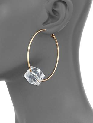 Natasha Crystal Hoop Earrings