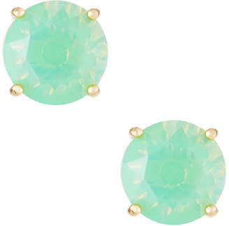 Greenbeads Mint Round Crystal Stud Earrings