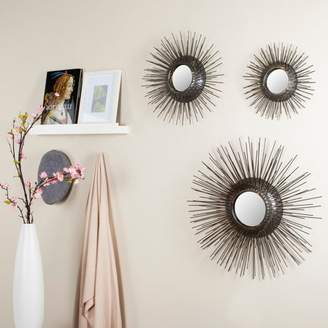 Safavieh Sunburst Triptych Round Mirror, Set of 3