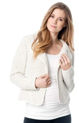 A Pea in the Pod Fashionista Stitch Detail Cotton Woven Maternity Jacket