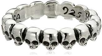 King Baby Studio Men's Infinity Skull Ring