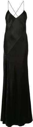 Mason by Michelle Mason slit-detail bias gown