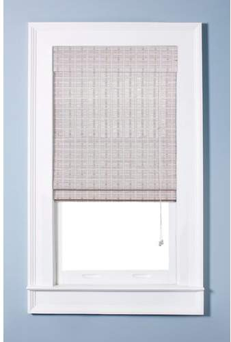 Top Blinds Oriental Semi-Sheer White Washed Roman Shade