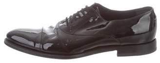 Gucci Cap-Toe Patent Leather Oxfords