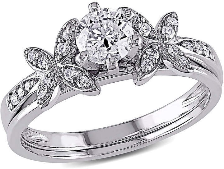 MODERN BRIDE Womens 5/8 CT. T.W. Genuine Diamond White Bridal Set