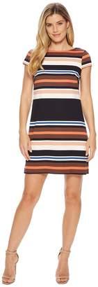 Adrianna Papell Yarn-Dyed T-Shirt Dress Women's Dress