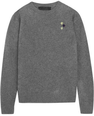 Flying Crosses Cashmere Sweater - Gray