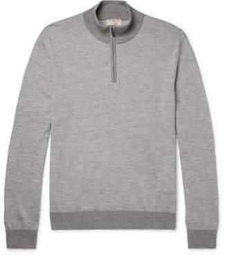 Hackett Mélange Wool-Blend Half-Zip Sweater