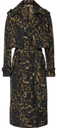 Stella McCartney Leopard-print Nylon Trench Coat