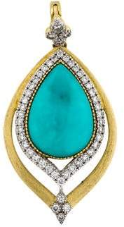 Jude Frances 18K Moroccan Turquoise & Diamond Pedant