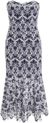 Jonathan Simkhai Guipure Bustier Lace Midi Dress