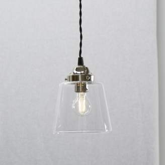 At The White Company Tapered Gl Small Pendant Light