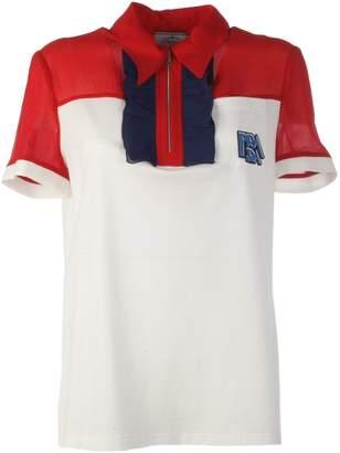Prada Ruffle Trim Polo Shirt