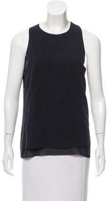 Cédric Charlier Sleeveless Scoop Neck Top