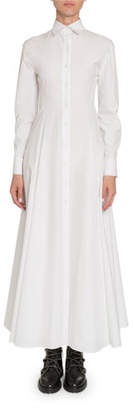 Alaia Poplin Long-Sleeve Shirtdress