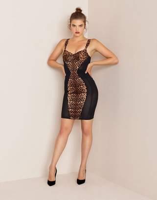 Agent Provocateur Bessie Dress Brown Leopard Print