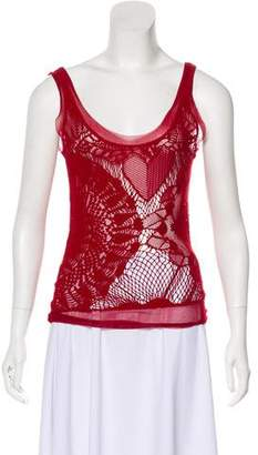 Jean Paul Gaultier Lace Sleeveless Top