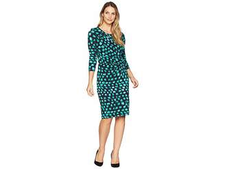 Nic+Zoe Vivid Sleeved Twist Dress