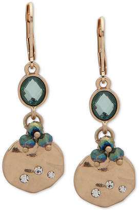 lonna & lilly Gold-Tone Pave, Stone & Bead Double Drop Earrings