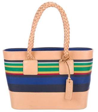 Ralph Lauren Ralph Leather-Trimmed Striped Tote