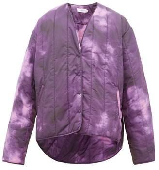 Marques Almeida Marques'almeida - Tie Dye Print Padded Jacket - Mens - Purple