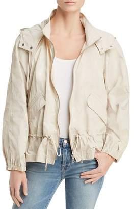 Donna Karan Hooded Zip Jacket