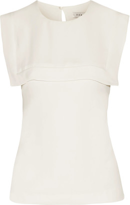 Sandro Earl layered crepe de chine top $250 thestylecure.com