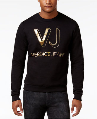 Versace Jeans Men's Lightweight Cotton Logo Sweater $195 thestylecure.com
