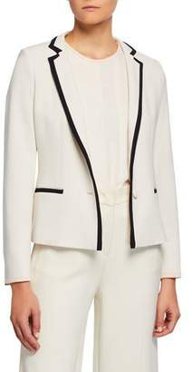 Max Mara Robert Contrast-Tipped Blazer Jacket
