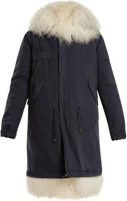 Mr & Mrs Italy Mongolian-fur lined hooded canvas parka