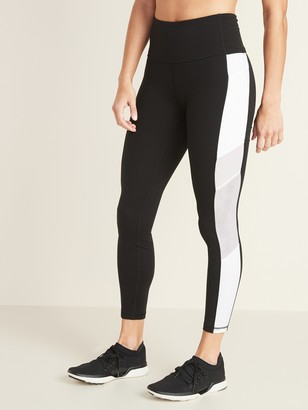 Old Navy High-Waisted Side-Stripe Pocket Elevate 7/8-Length Leggings For Women
