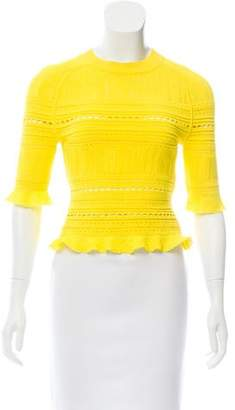 3.1 Phillip Lim Ruffle-Trimmed Knit Top w/ Tags