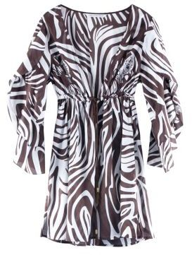 Leo Cover-Up in Zebra Camoflage Chocolate