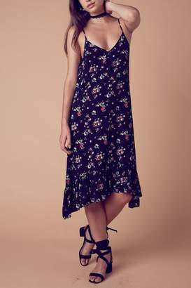 Cotton Candy Midi Floral Dress $45 thestylecure.com