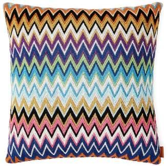 Missoni Home Vladimiro Zigzag Knit Cushion - Black Multi
